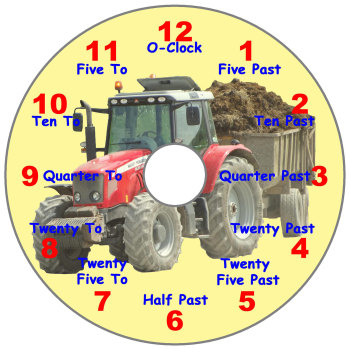 Tractor Teaching Clock