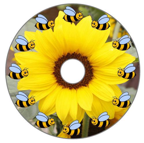 Bees around a Sunflower