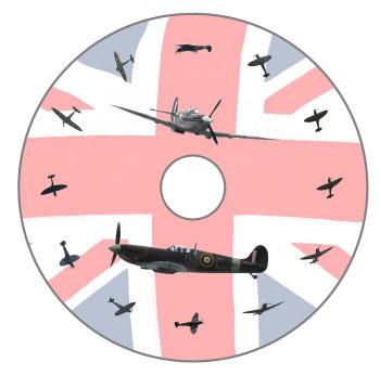 Spitfire, Spitfire Dial, Flag Background