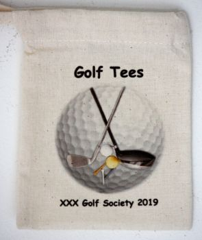 Golf Tee Bags - Personalised