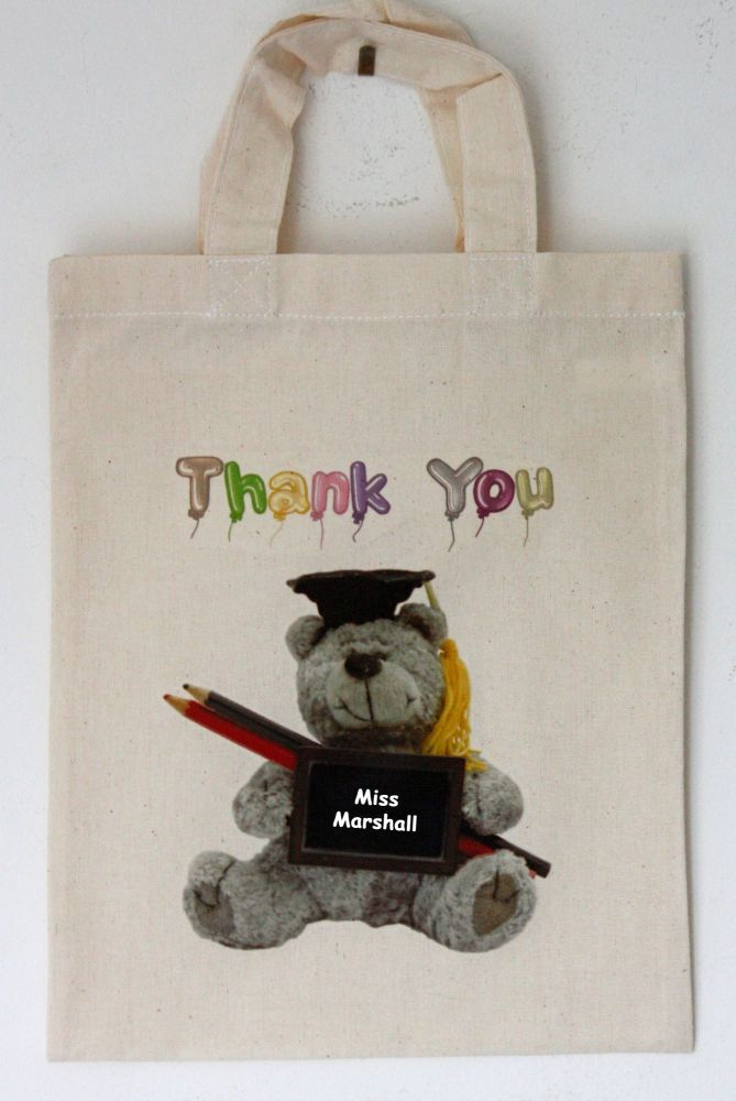 Thank You (Teacher) Personalised Small Bag
