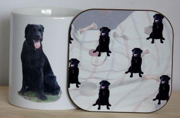 Black Labrador - Mug & Coaster