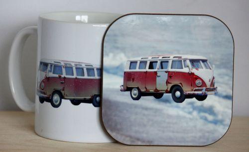 Camper Van Gift Set - Mug & Coaster