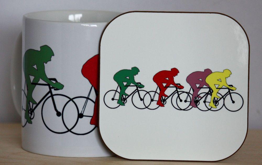 Cycling Gift Set - Mug & Coaster