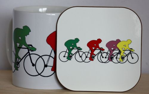 Cycling Gift Set - Mug & Coaster
