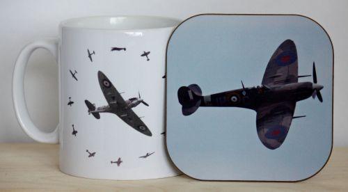 Spitfire Gift Set - Mug & Coaster