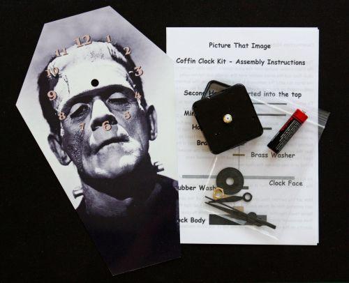 DIY Coffin Clock Kit - Boris Karloff