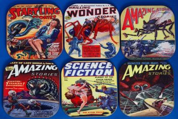 Sci Fi Comics coaster set 1