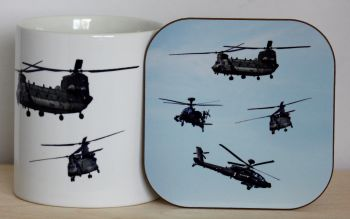 Helicopter - Mug & Coaster