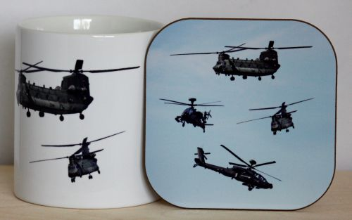 Helicopter Gift Set - Mug & Coaster