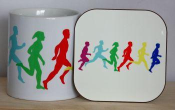 Running - Mug & Coaster
