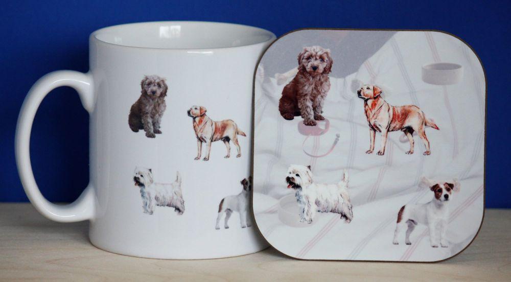 Dogs - Mug & Coaster
