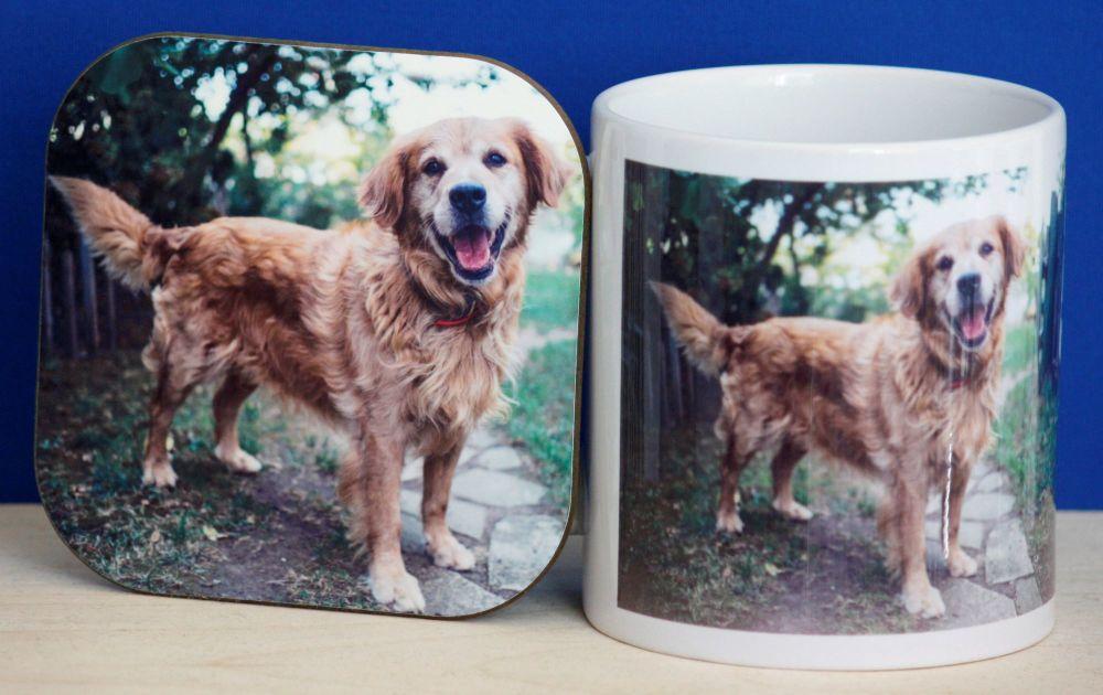 Golden Retriever - Mug & Coaster