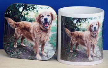 Golden Retriever - Mug & Coaster