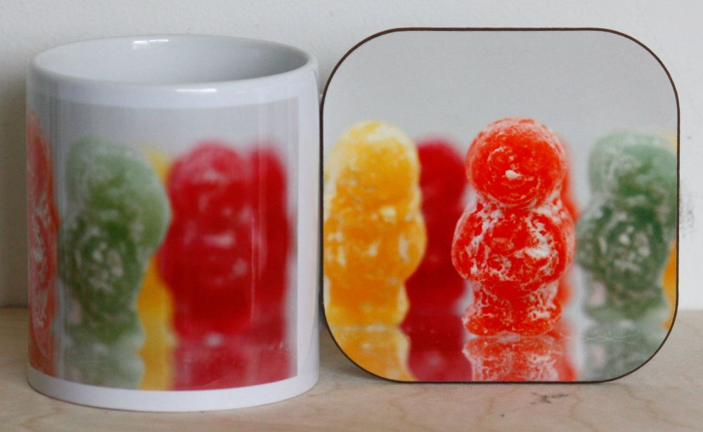 Jelly Babies - Mug & Coaster
