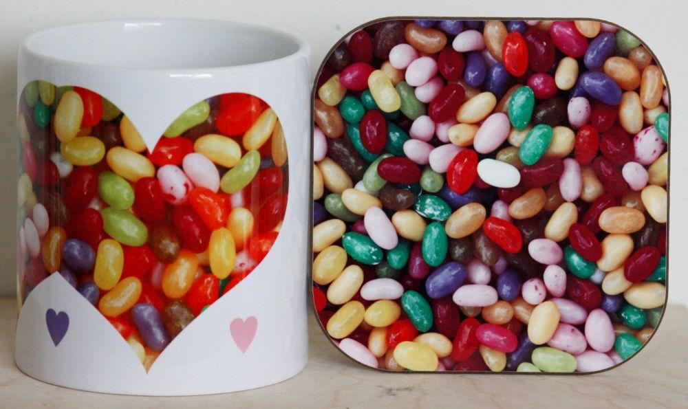 Jelly Beans - Mug & Coaster