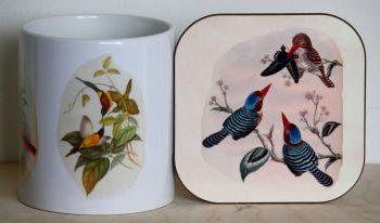 Oriental Birds - Mug & Coaster