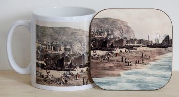 Hastings Seafront Mug & Coaster
