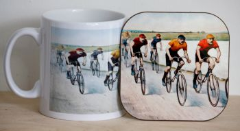 Cyclists Mug & Coaster