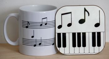 Musical Notes - Mug & Coaster