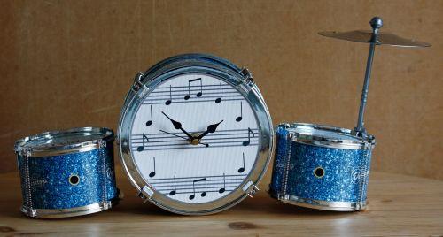Drum Kit Desk Clock