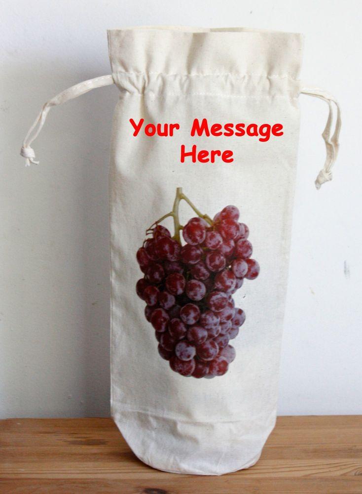 Bottle Bag - Persnalised (Draw Strings)