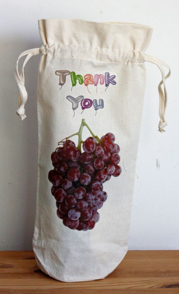 Bottle Bag - Thank You (Draw String)