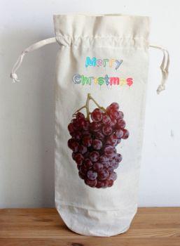 Bottle Bag - Merry Christmas (Draw String)