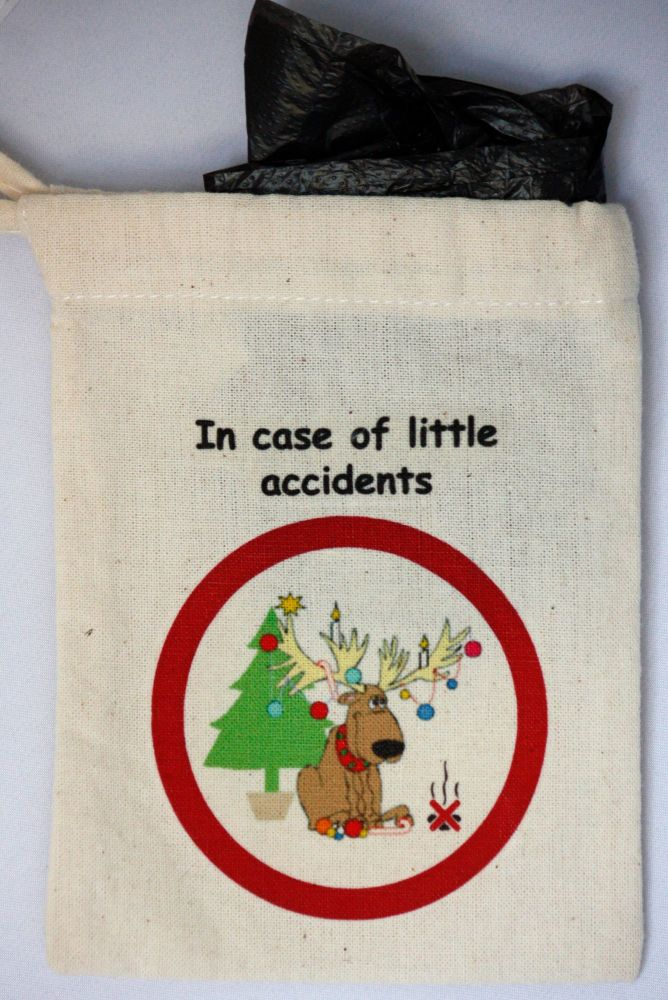 Christmas Reindeer Poo Bag