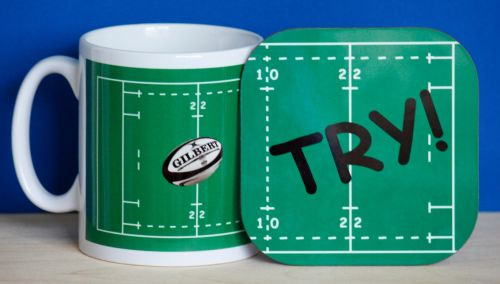Rugby - Mug and Coaster