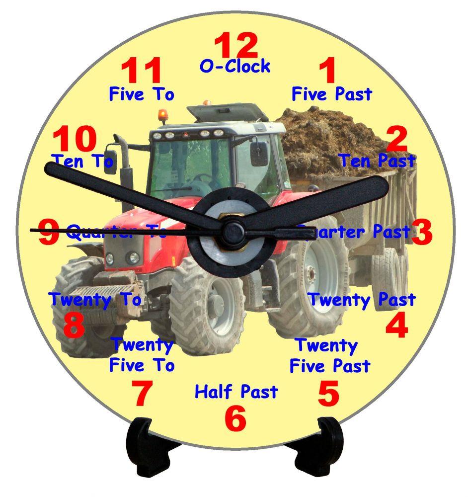 Tractor Teaching Clock