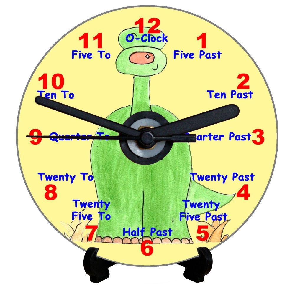 Dinosaur Teaching Clock (English)