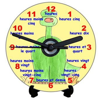 Dinosaur Teaching Clock (French)