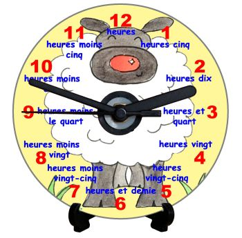 Sheep Teaching Clock (French)