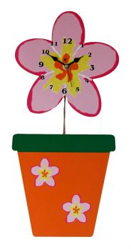 Flower Pot Wall Clock - Can be Personalised