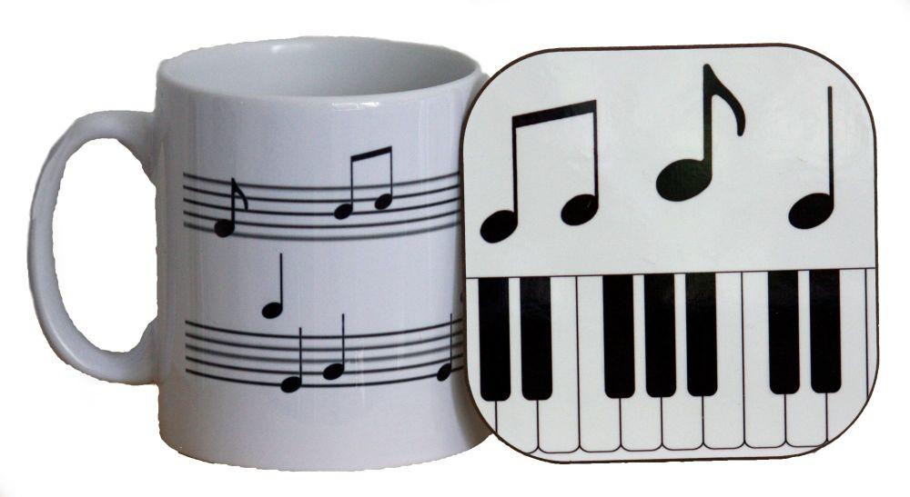 Musical Notes - Mug & Coaster