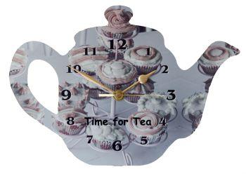 Tea Pot Clock - Cup Cakes