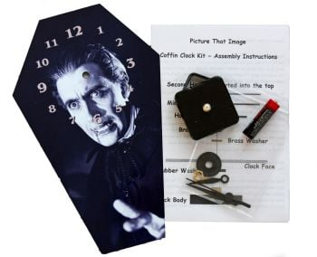 DIY Coffin Clock kit - Christopher Lee