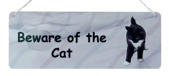 Beware of the Cat - Black & White