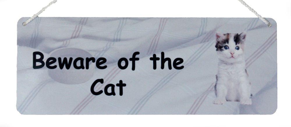 Beware of the Cat - Tabby & White