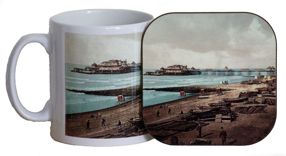 Brighton Seafront Mug & Coaster
