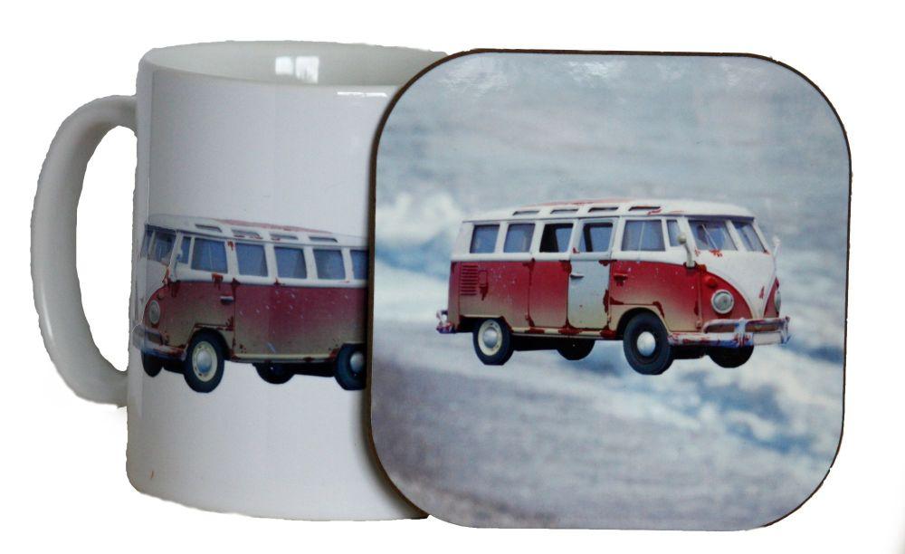 Camper Van - Mug & Coaster