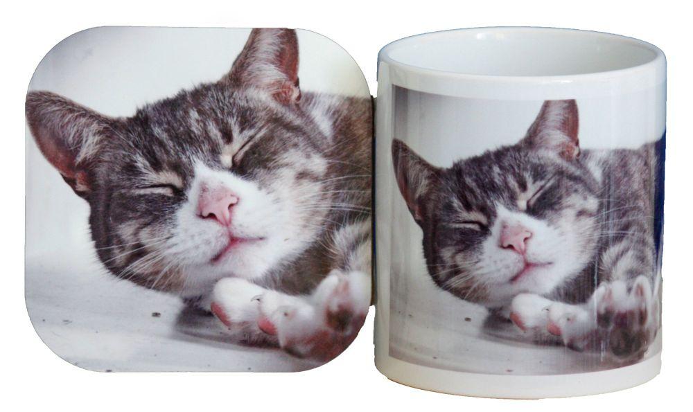 Cat - Mug & Coaster