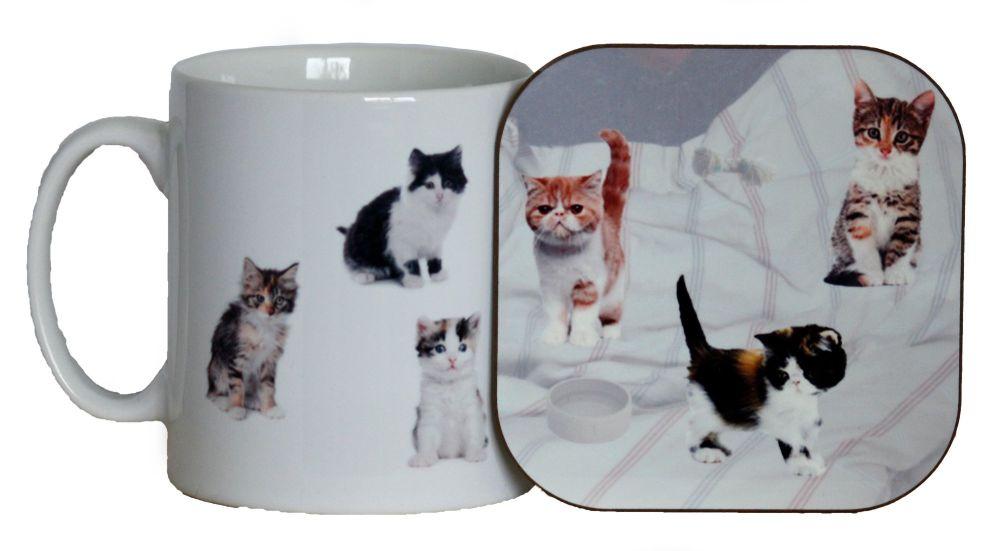 Cats - Mug & Coaster