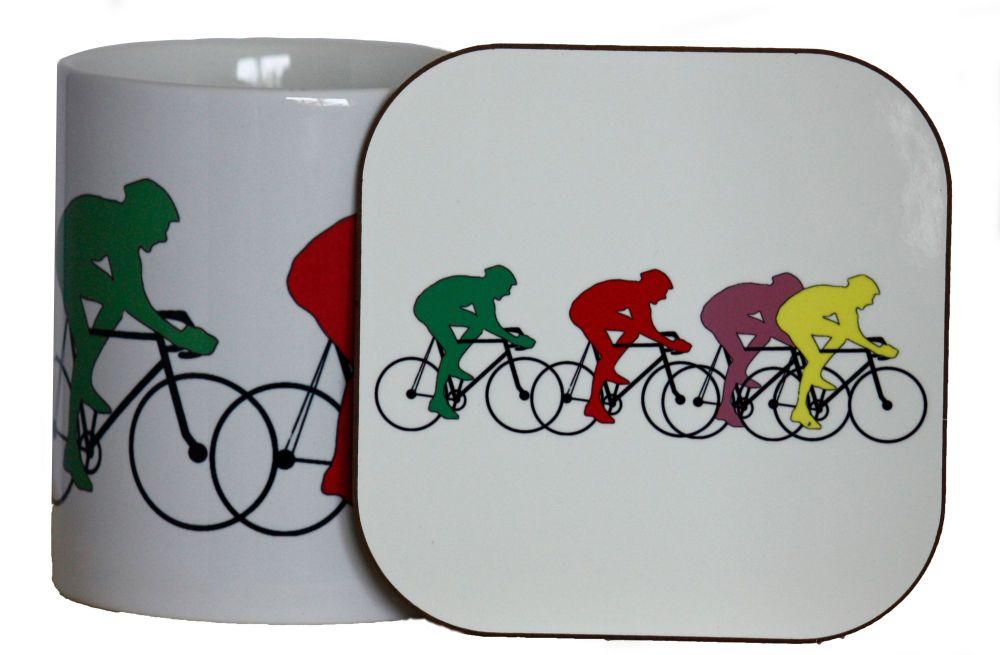 Cycling - Mug & Coaster