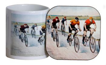 Cyclists Mug & Coaster