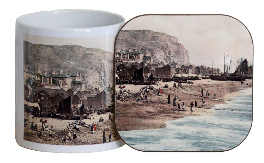 Hastings Seafront Mug & Coaster