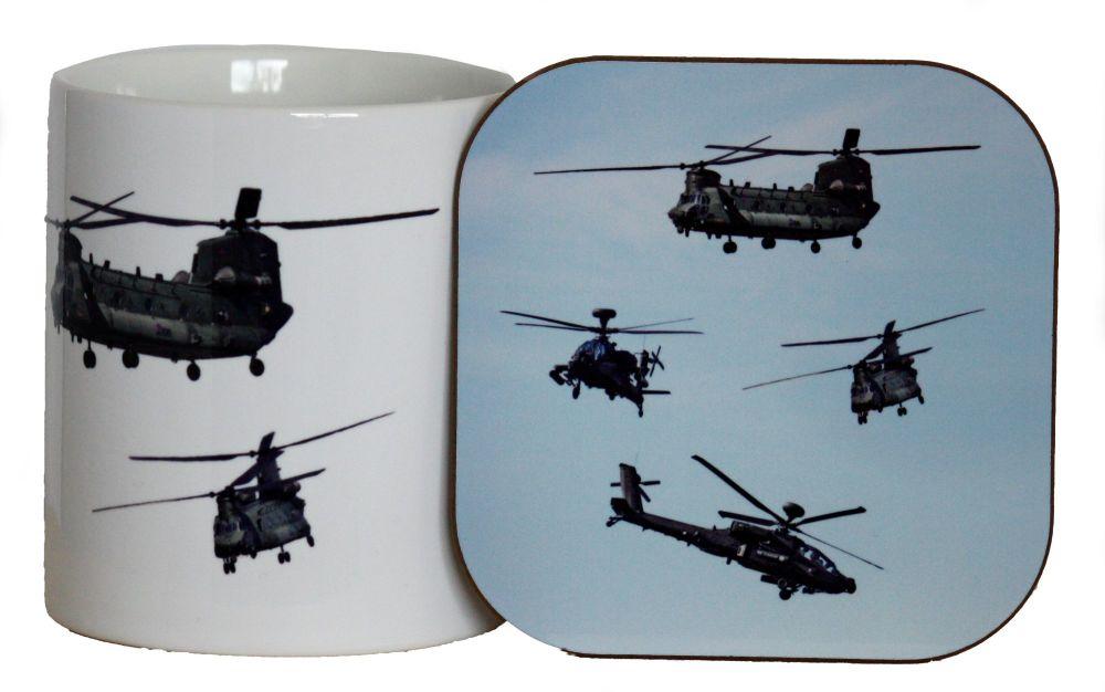 Helicopter - Mug & Coaster