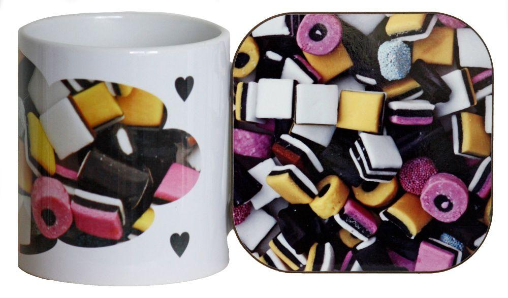 Liquorice Allsorts - Mug & Coaster
