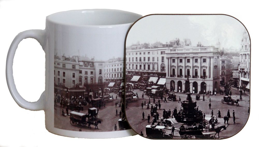 Piccadilly Circus Mug & Coaster